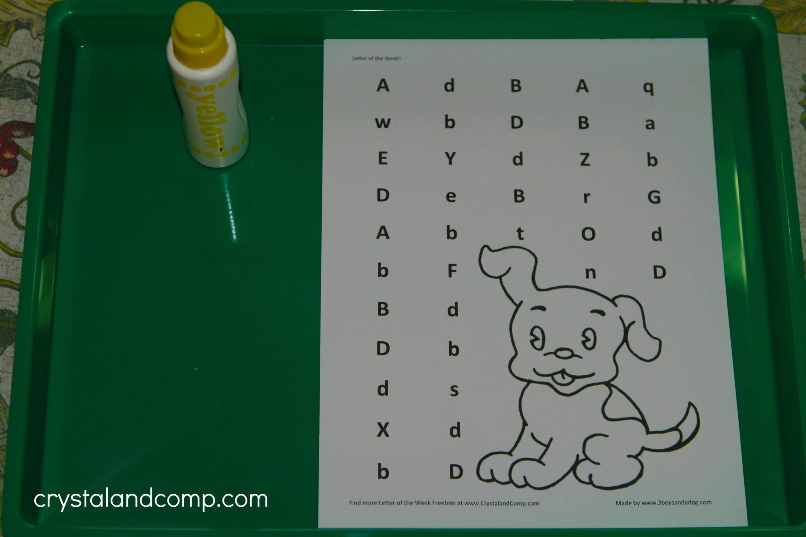 Printable Preschool Worksheets Letters