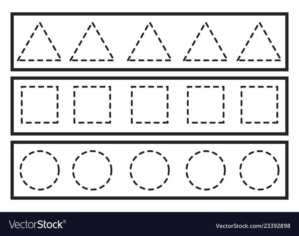 Free Preschool Tracing Lines Worksheets