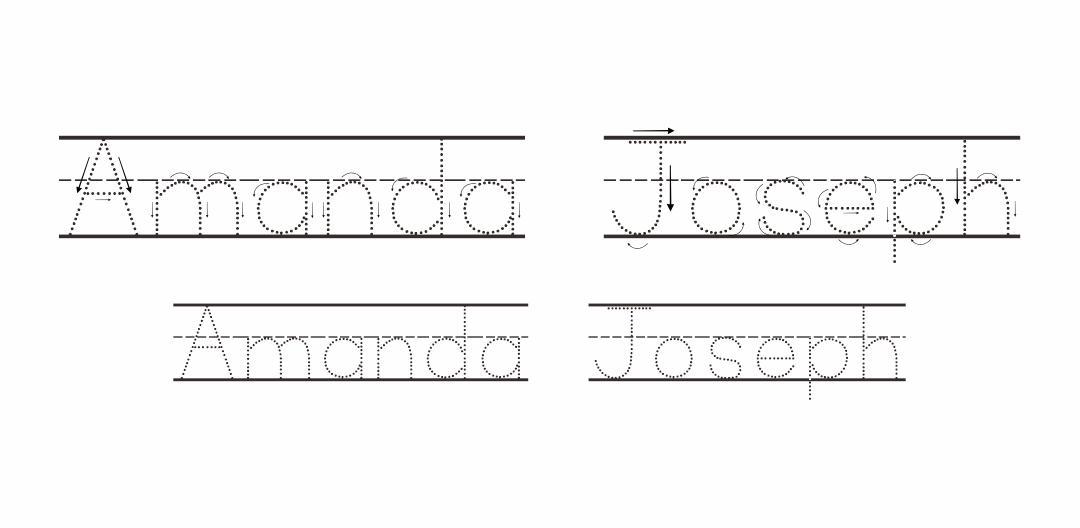 Free Printable Preschool Worksheets Tracing Letters Name