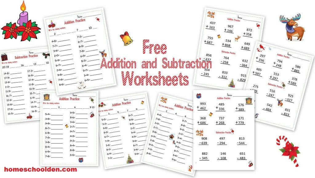 Math Worksheets Addition And Subtraction To 20