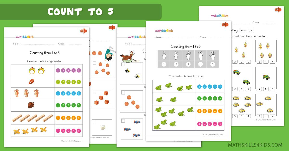Math Worksheets Counting 1-100