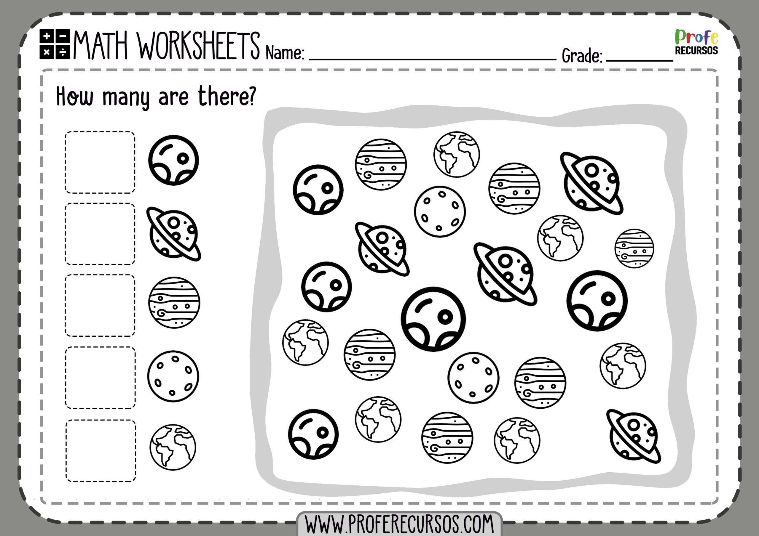 Math Worksheets Counting 1