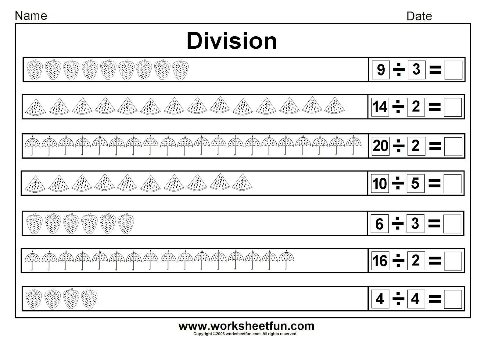 Math Worksheets Division For 4th Grade