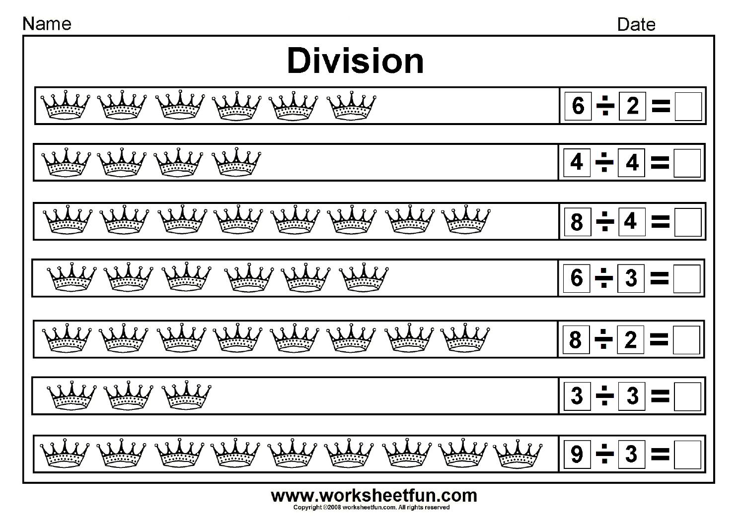 Math Worksheets Division With Remainders