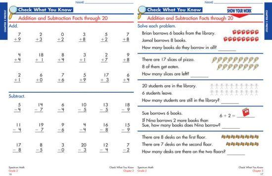 Math Worksheets For Grade 2 1