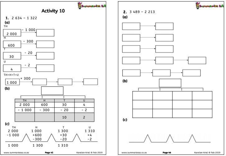 Math Worksheets Grade 4 Addition