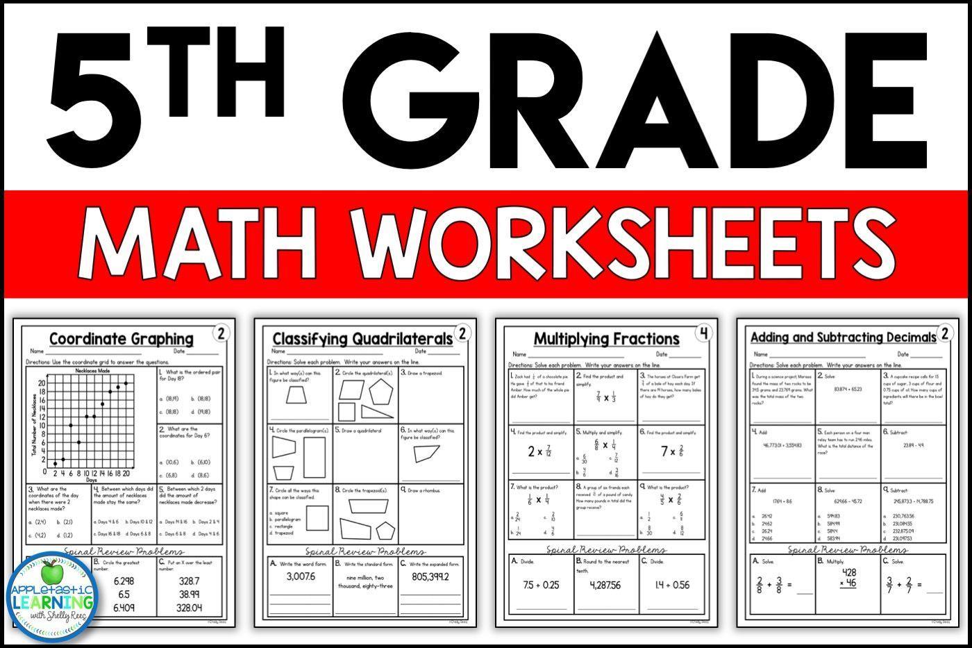 medium resolution of Math Worksheets Grade 5 – Smart Kids Ideas