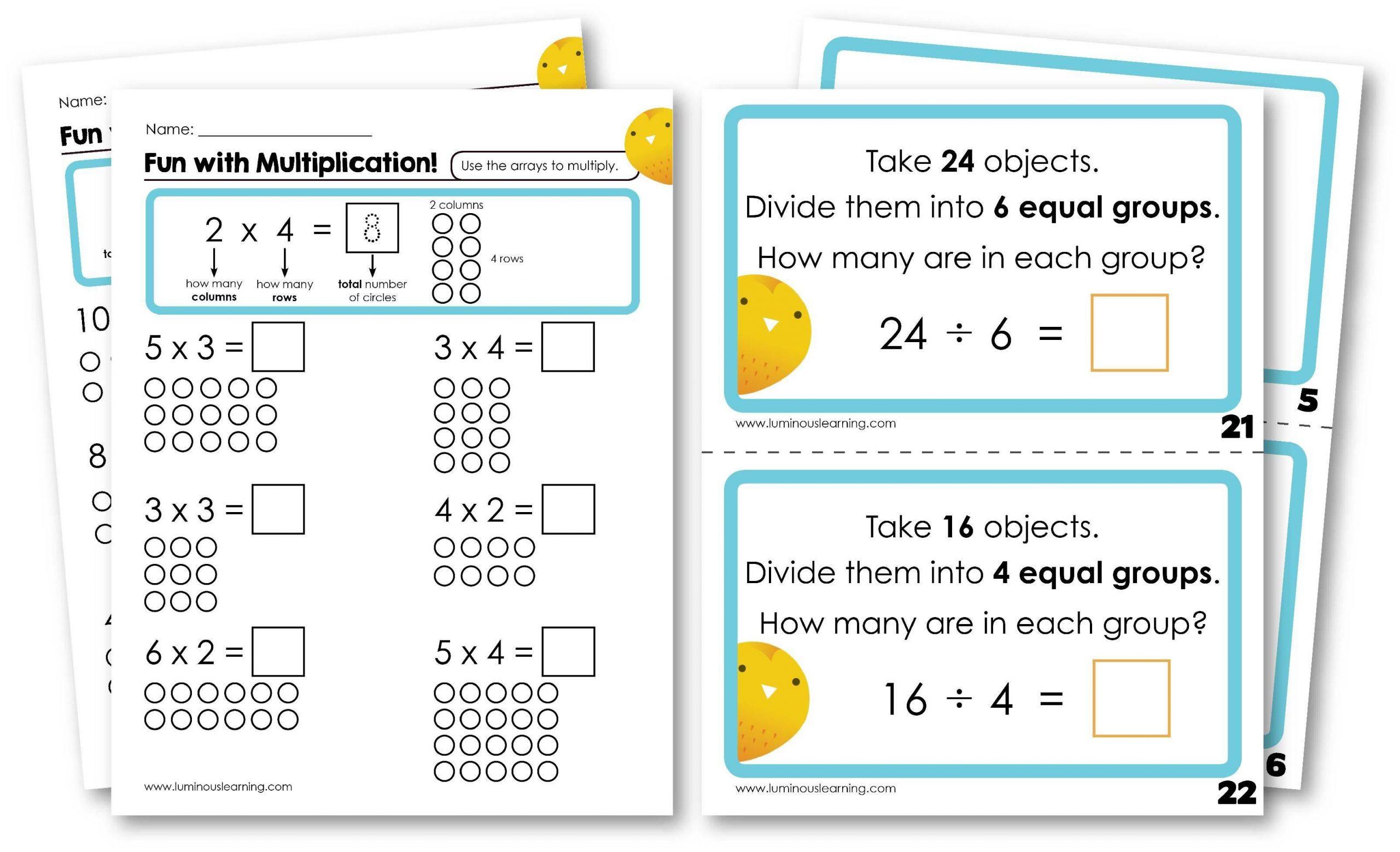 Math Worksheets Multiplication And Division Pdf