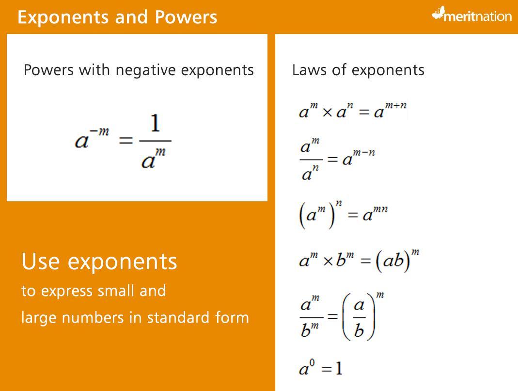Math Worksheets Using Exponents
