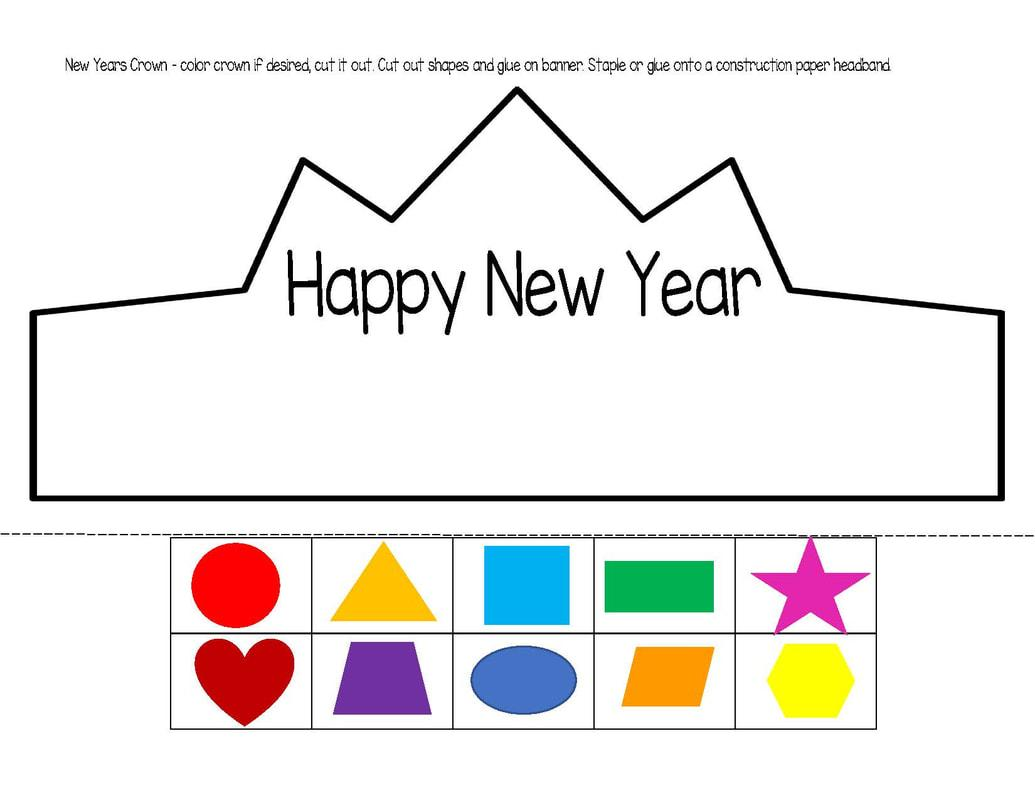 Preschool New Years Worksheets 2