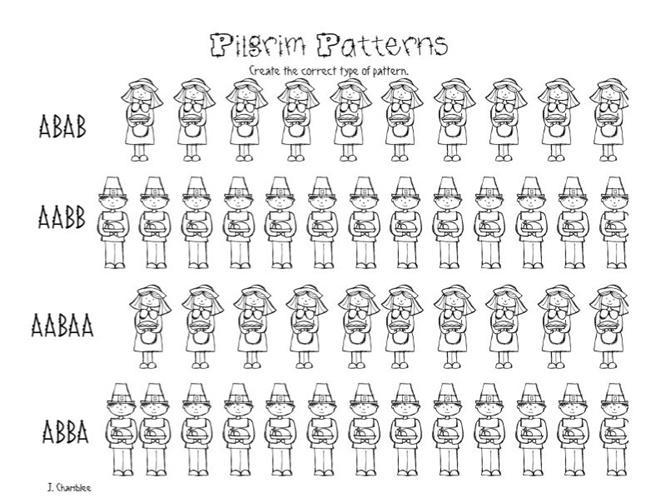 Preschool Pattern Worksheets Free