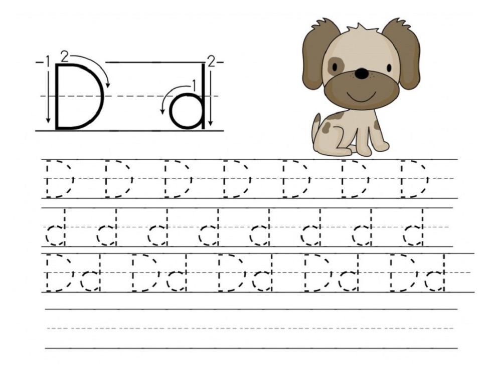 Preschool Worksheets For Letter D