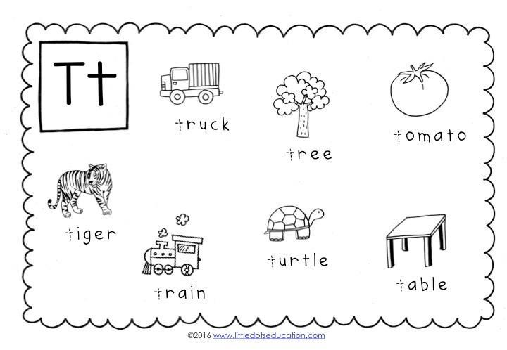 Preschool Worksheets Letter T 1