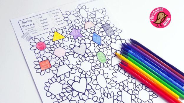 Preschool Worksheets Matching Shapes