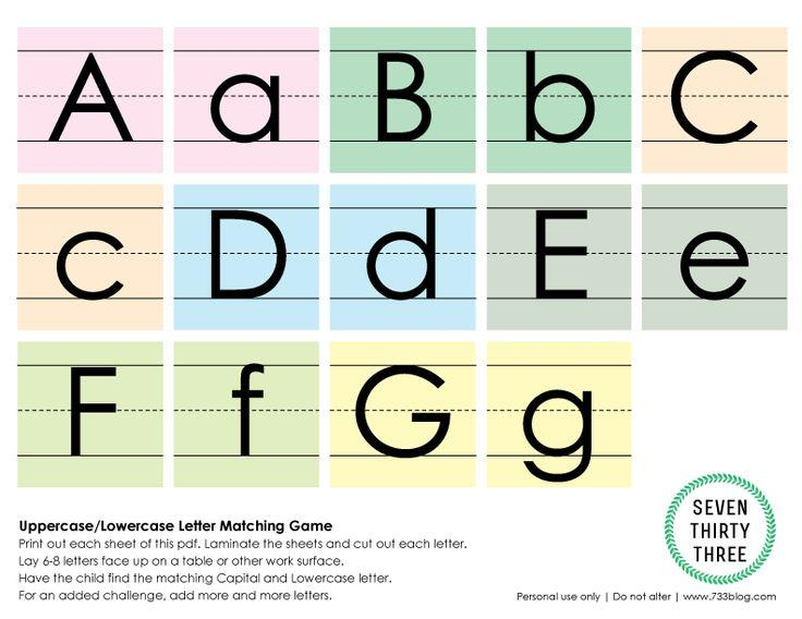 Preschool Worksheets Matching Upper Lowercase Letters 2