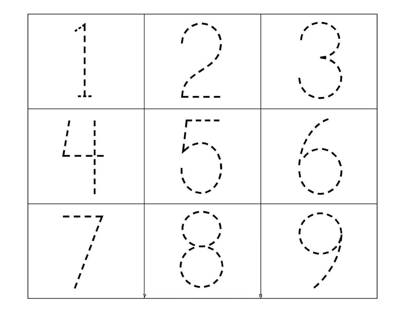 Preschool Worksheets Number Tracing
