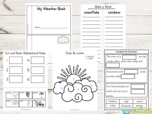 Preschool Worksheets On Weather