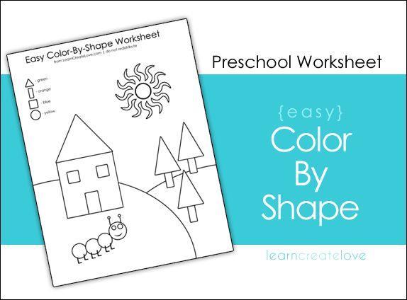 Preschool Worksheets Shapes And Colors 2