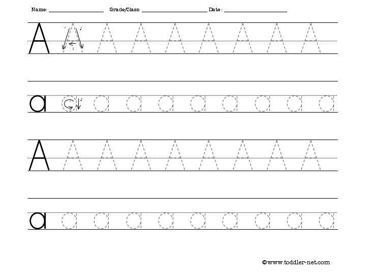 Preschool Worksheets Tracing Letters And Numbers 5