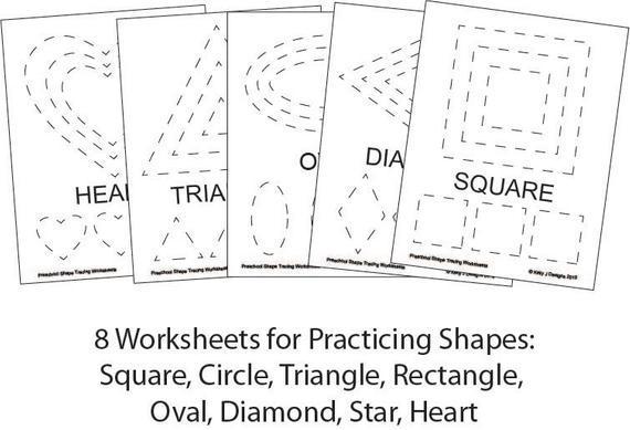 Preschool Worksheets Tracing Shapes 2