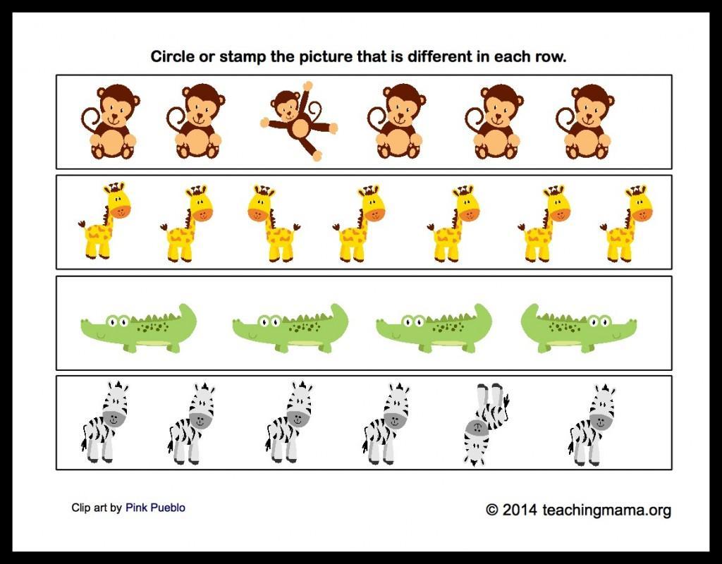 Preschool Worksheets Zoo Animals 2