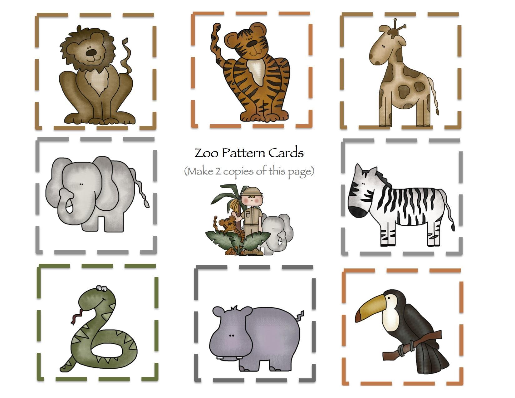Preschool Worksheets Zoo Animals 4