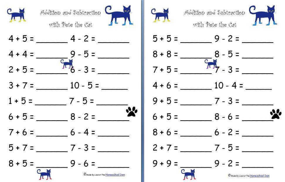 Printable Math Worksheets Easy