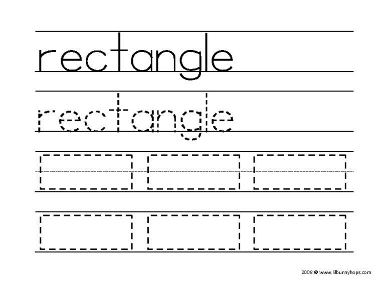 Worksheets On Rectangle For Preschool 7