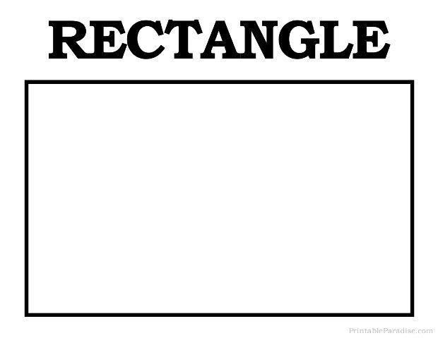 Worksheets On Rectangle For Preschool 8