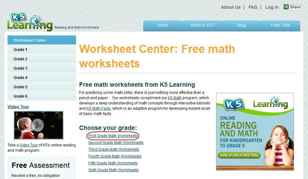 Grade 6 Math Worksheets K5 Learning