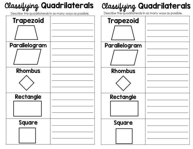 Math Antics Worksheets Classifying Quadrilaterals
