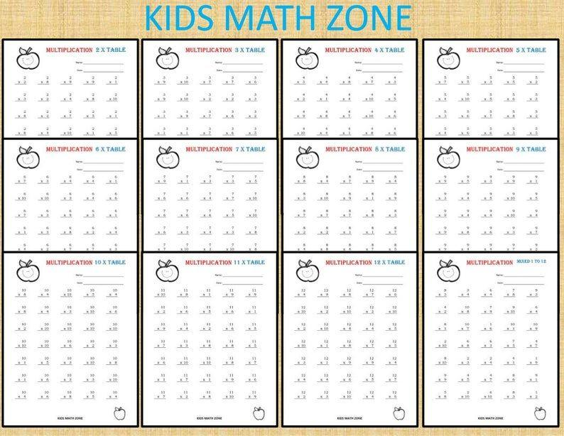 Math Worksheets 4th Grade Multiplication Word Problems