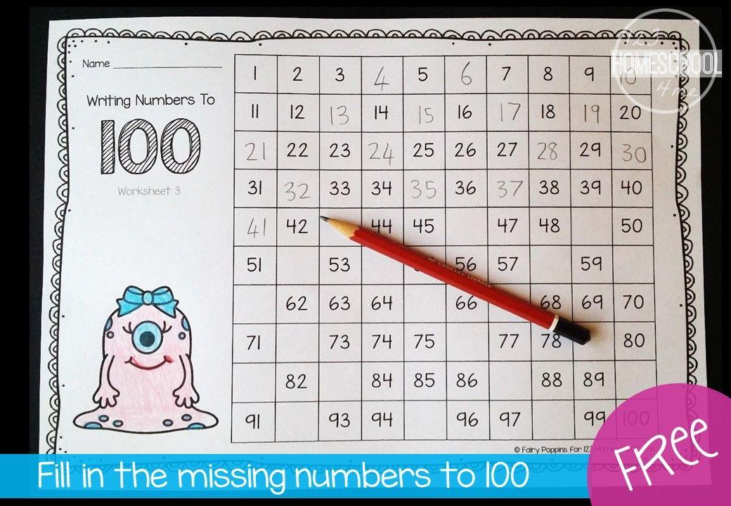 Math Worksheets Numbers 1-100 5