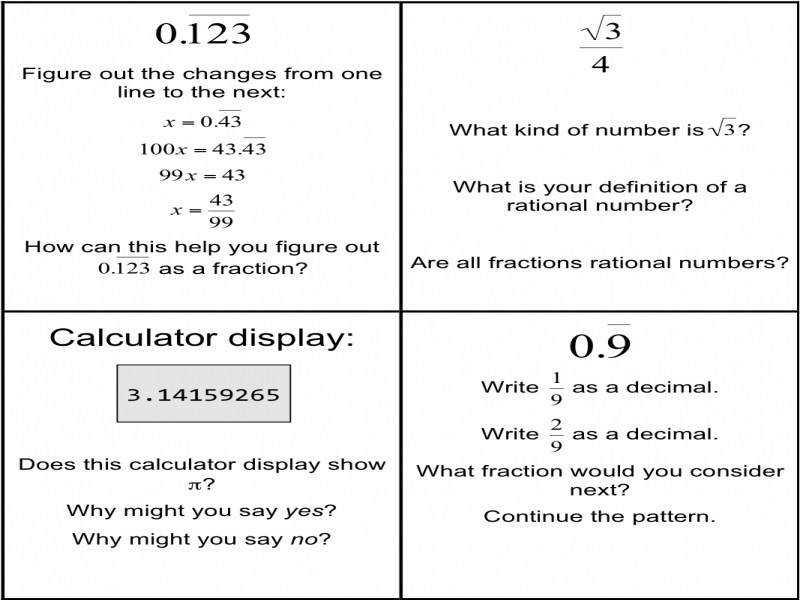 Math Worksheets Rational And Irrational Numbers 6