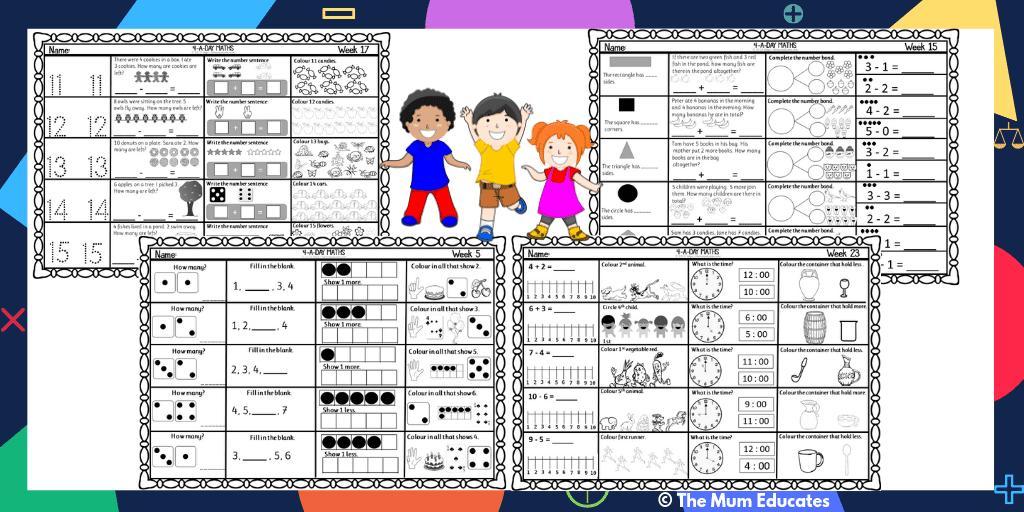 Math Worksheets Reception Classes