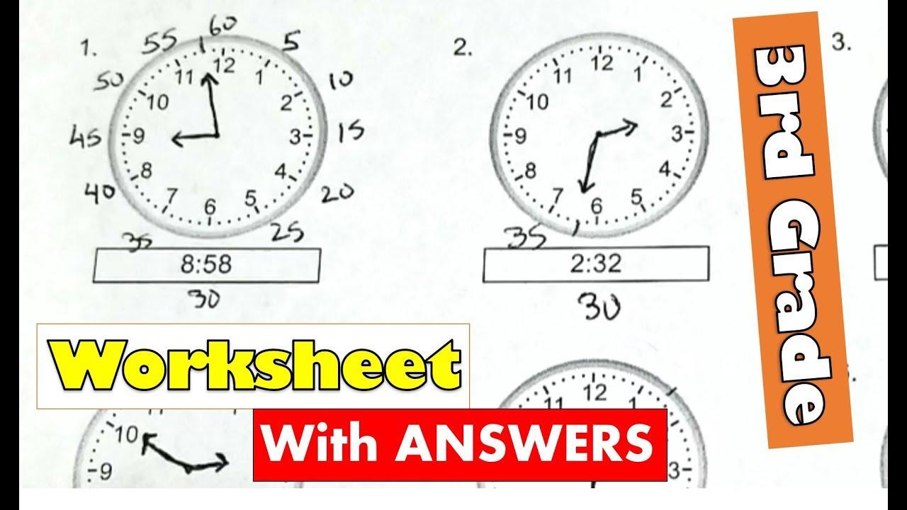 Math Worksheets Time Half Past