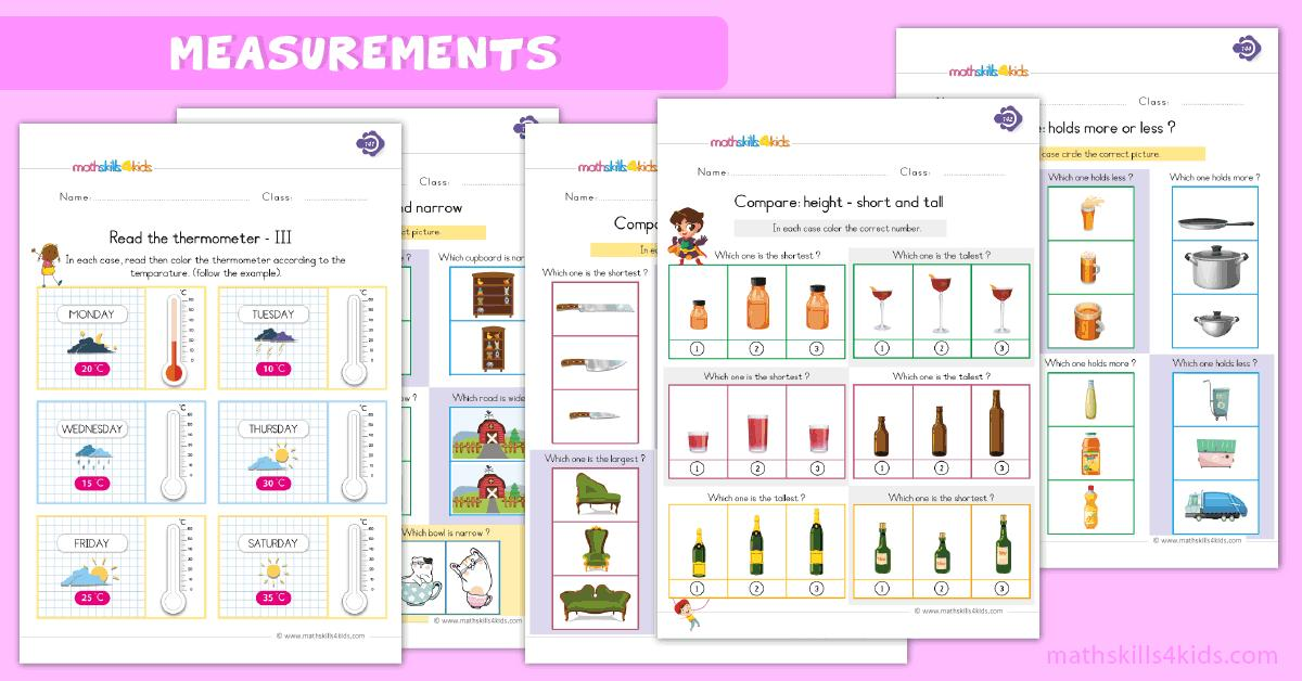 Math Worksheets Units Of Measurement 4