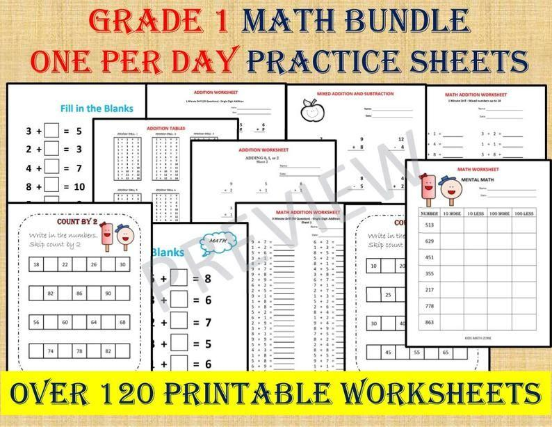 Maths Worksheets Year 1 Printable