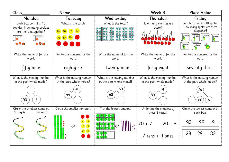Maths Worksheets Year 2 Nz