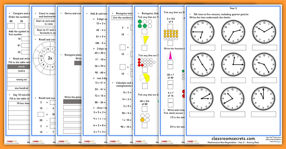 Maths Worksheets Year 2 Subtraction