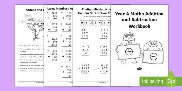 Maths Worksheets Year 4 Nz