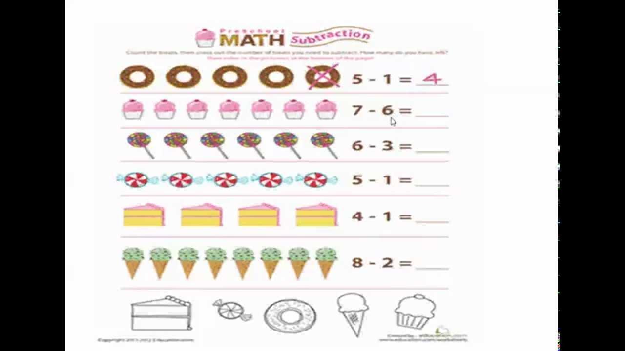 Printable Math Worksheets For Kg2