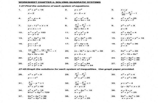 Algebra 2 Quadratic Formula And Discriminant Worksheet Answers