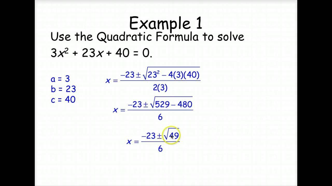 Algebra 2 Quadratic Formula Worksheet Answer Key - Smart ...
