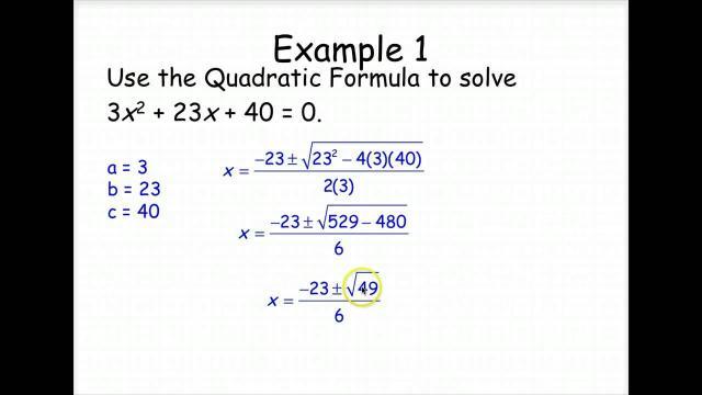 Algebra 2 Quadratic Formula Worksheet Answer Key