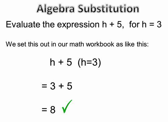 Algebra Substituting Values Worksheets 5