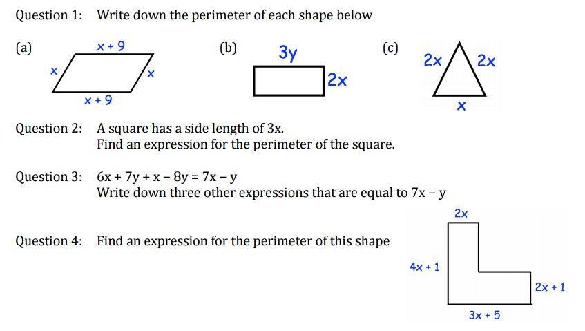 Algebra Worksheets Corbett Maths 6