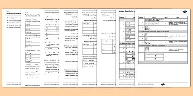 Algebra Worksheets For Grade 6 Icse
