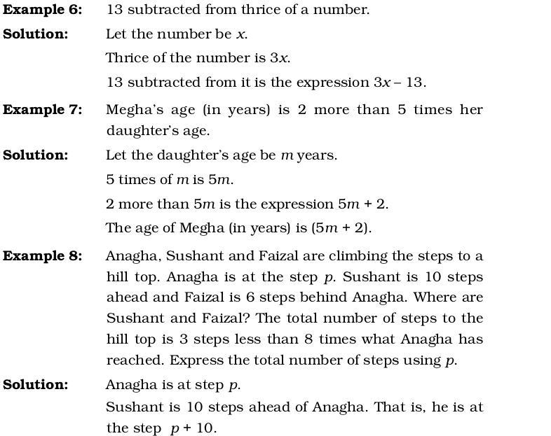 Algebra Worksheets Grade 6 Ncert 4