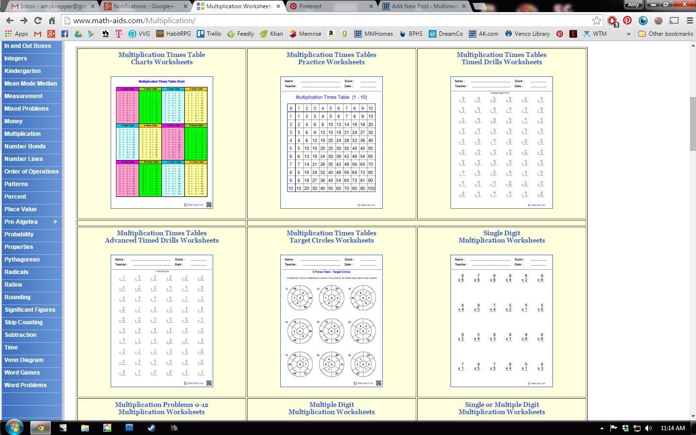 Algebra Worksheets Math Aids 2